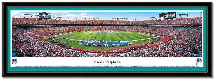 Dolphons Sun Life Stadium panoramic photo Home of the Miami Dolphins NFL football team Panoramic photo taken during the 2010 season #MiamiDolphins