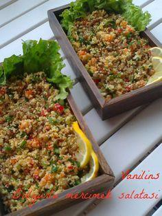 Vanilins: Bulgurlu yeşil mercimek salatası