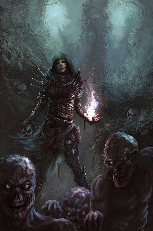 Undead Witch by Peter-Ortiz.deviantart.com on @DeviantArt