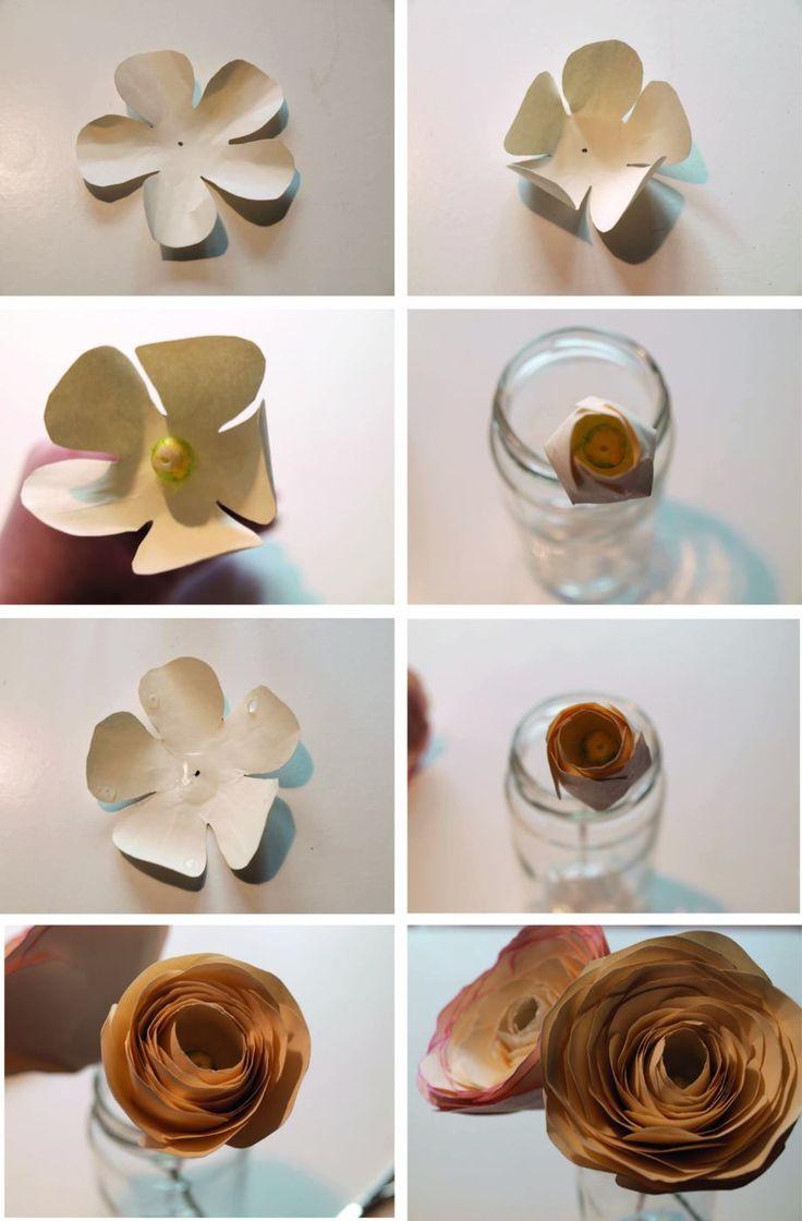 DIY Blumen: Ranunkeln aus Papier mit Vorlage zum ausdrucken - Frau Liebling DIY Blog über Geschenke, Deko und Lettering