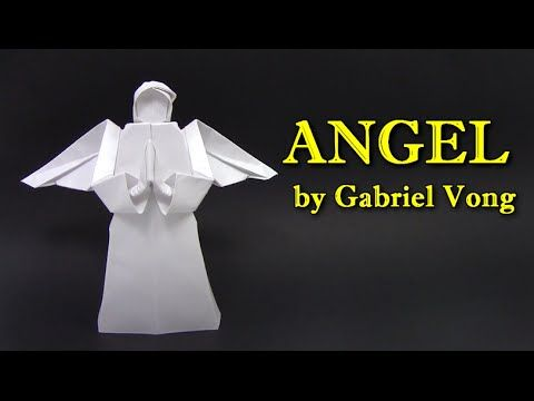 Christmas Origami - how to make origami angel wie man Origami Engel machen comment faire l'origami ange como fazer origami anjo cómo hacer ángel de origami c...