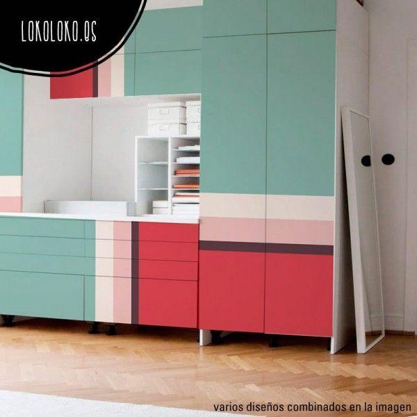 Puertas de armario forradas con vinilo de elegantes selección de colores pasteles