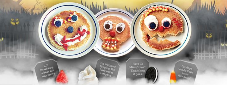 #Free Scary Face #Pancake for Kids at #IHOP on Monday 31 October 2016 7 A.M. - 10 P.M. http://ihop.com/Ihop-Locations #Kds 12 and under. Dine-in only. http://ihop.com/scary-face-pancakes. #ezswag #havefun #makemoney #savemoney #freebies #freestuff #freefood #freebies
