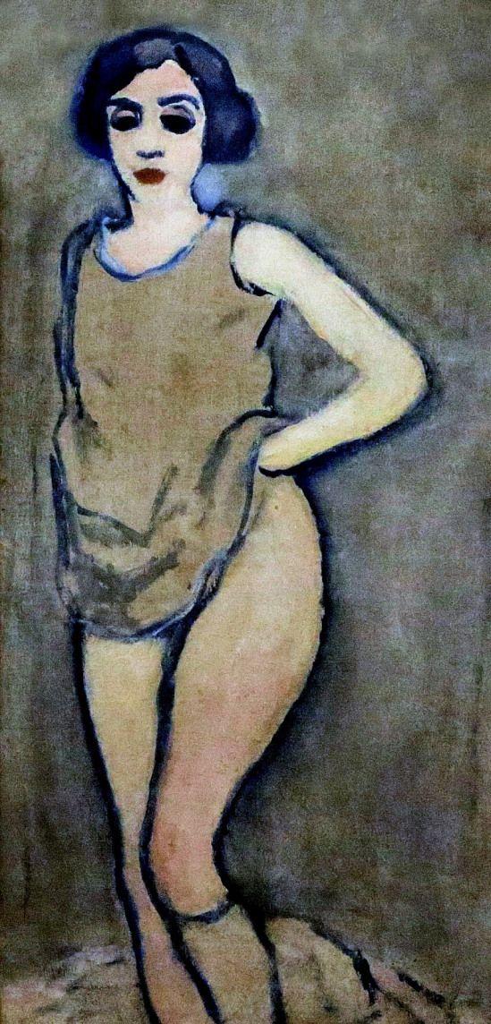 Kees Van Dongen. Woman in shirt 1908.