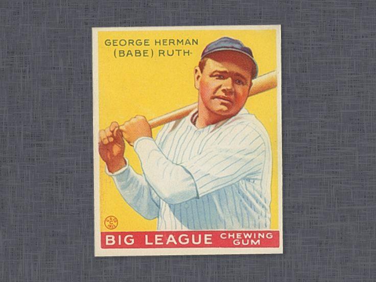 1933 goudey babe ruth baseball cards rare baseball