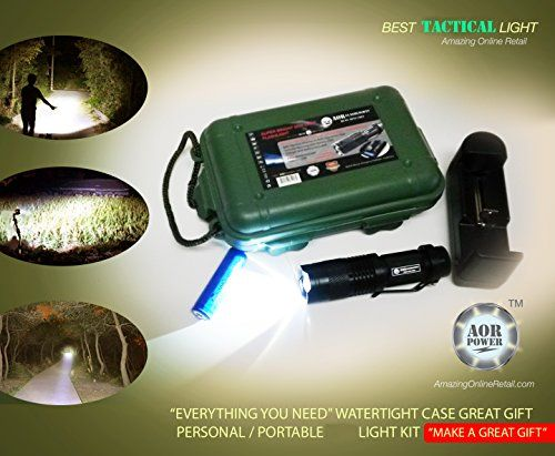 AOR Flashlights #400LMQ5 Cree Mean Tactical LED Rechargeable EDC Flashlight - Water Resistant Box, Charger, Belt Clip (Black) AOR Flashlights http://www.amazon.com/dp/B00IJ1EJ9K/ref=cm_sw_r_pi_dp_d0VCwb16EJB1J