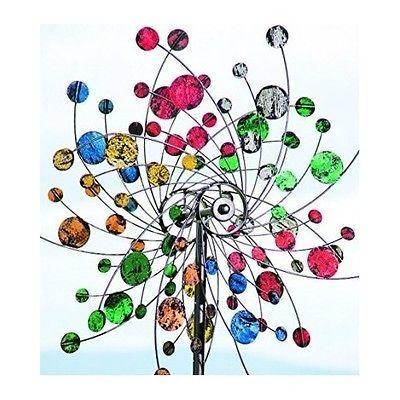 Garden Wind Spinner Confetti Metal Art Kinetic Yard