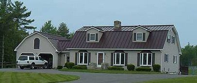 Brown Metal Roof Standing Seam Metal Roofing Systems C