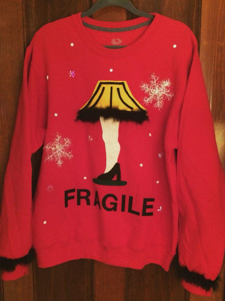 DIY A Christmas Story leg lamp ugly sweater.