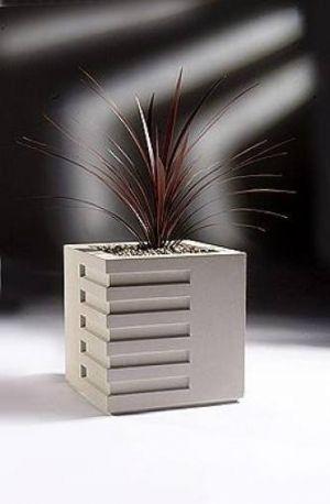 Rib Contemporary Stone Planter