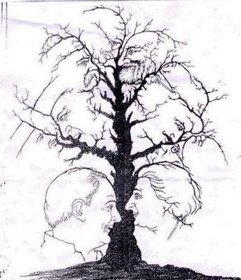Tree with many faces (Just keep on looking)
