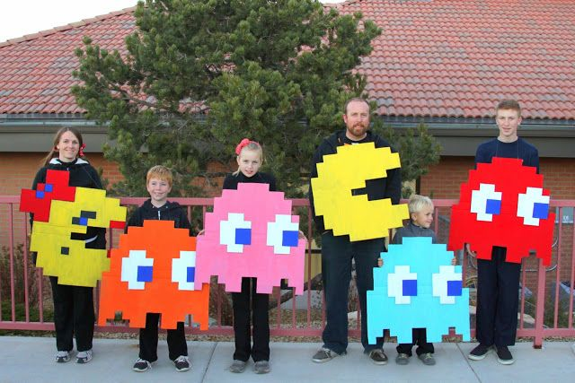 Li'l Buck's Creations: Homemade Pac-Man Halloween Costumes