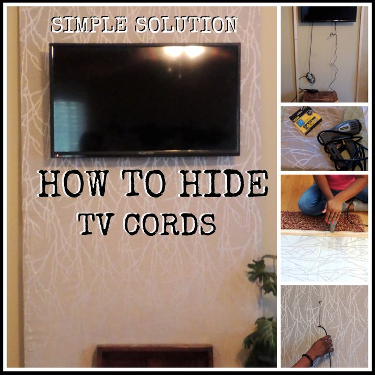 Simple Solution to Hide TV Cords