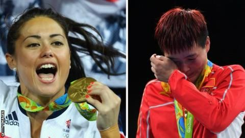 Sam Quek and Chinese Olympic team member