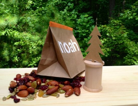 Super Cute DIY Personalized Paper Bag Tent To Craft For Back School Snacks Kids