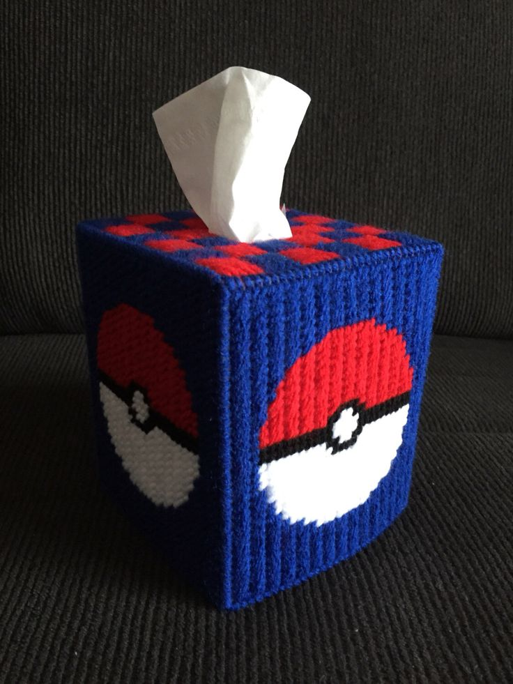 Excited to share the latest addition to my #etsy shop: Pokemon Handmade Plastic Canvas Tissue Box Cover