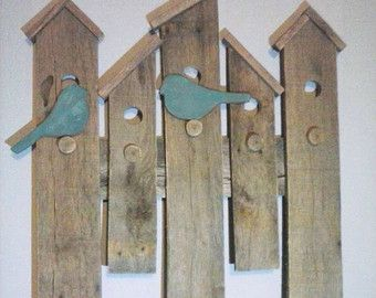 wood birdhouse house sign for wall - Google Search