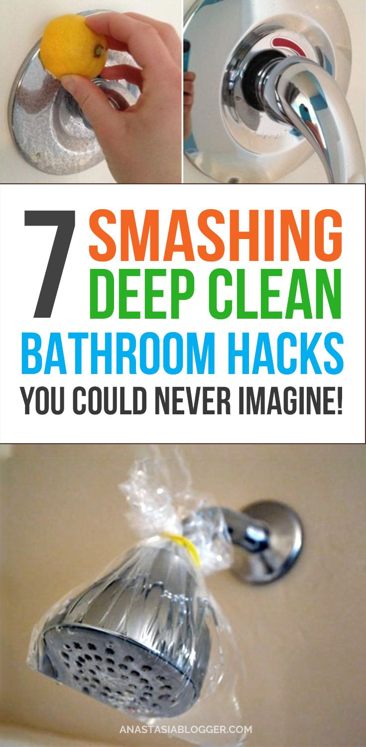 Bathroom cleaning hacks!! This is how to get your bathroom really clean