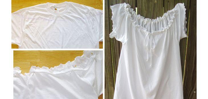 Plus léger que l'air chemise d'été - Idées de vêtements réutilisés de bricolage - Cliquez pour Tutorial