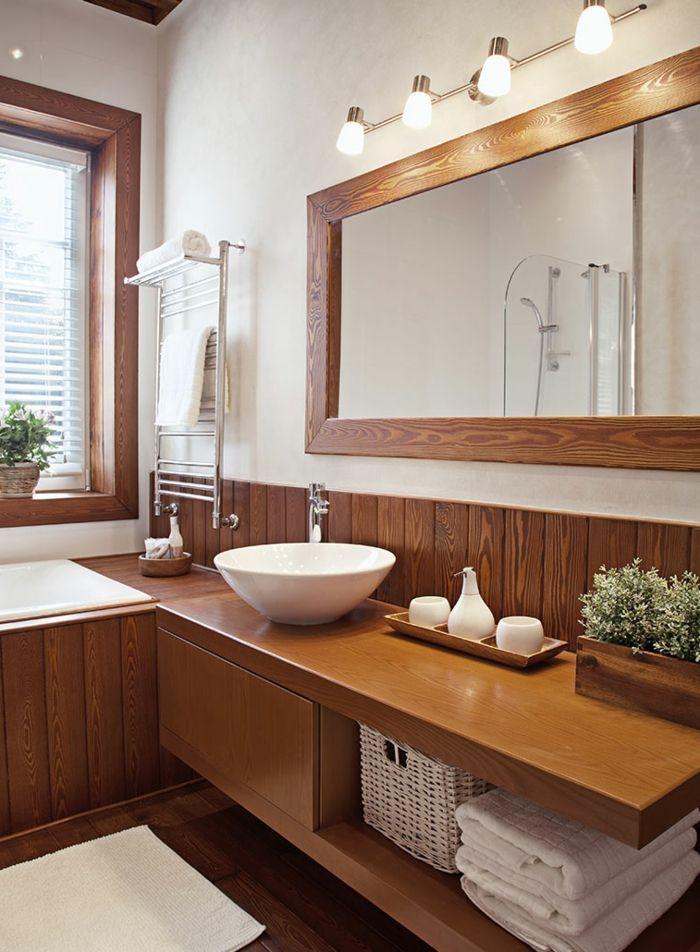 1001 Badezimmer Ideen Fur Kleine Bader Zum Erstaunen Ein Grosser Spiegel Mit Indirekter Beleuchtung Ein Rundes Wa Badezimmerideen Badezimmer Schone Badezimmer