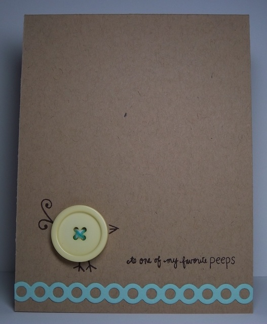 I love buttons, and I have great penmenship so I can even WRITE this on instead of stamping it all!