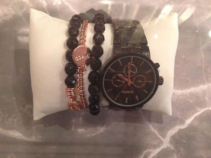 Black Mimco Watch and Bracelet