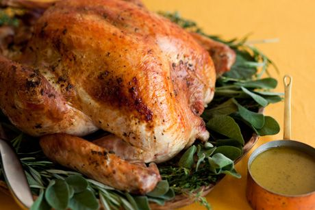 Bobby Flay's Herb Roasted Turkey recipe -Delicious! I've used this recipe every year and it hasn't failed me yet.