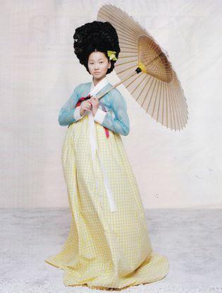 gingham hanbok