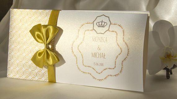 Gold Ellegance Full Personalised Wedding Invitations //
