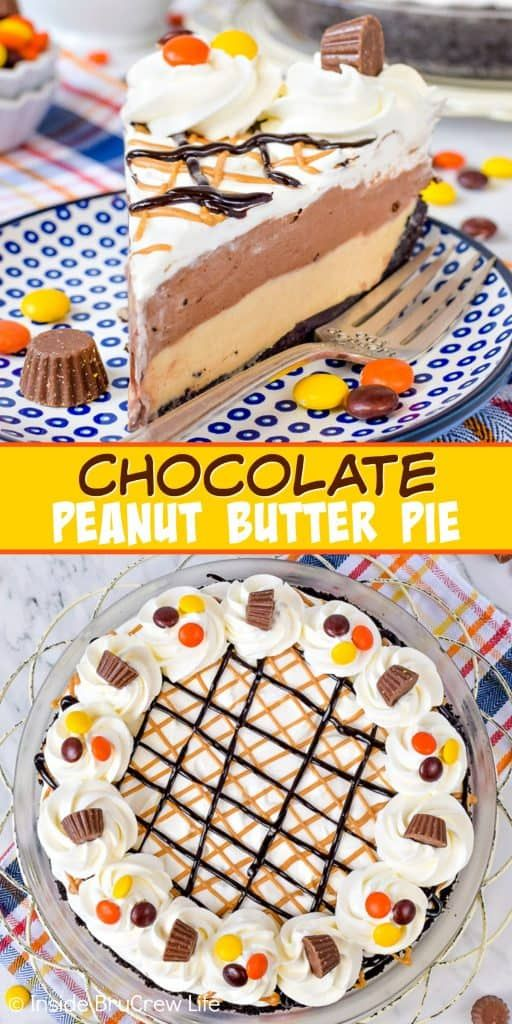 Chocolate Peanut Butter Pie – the layers of chocol…
