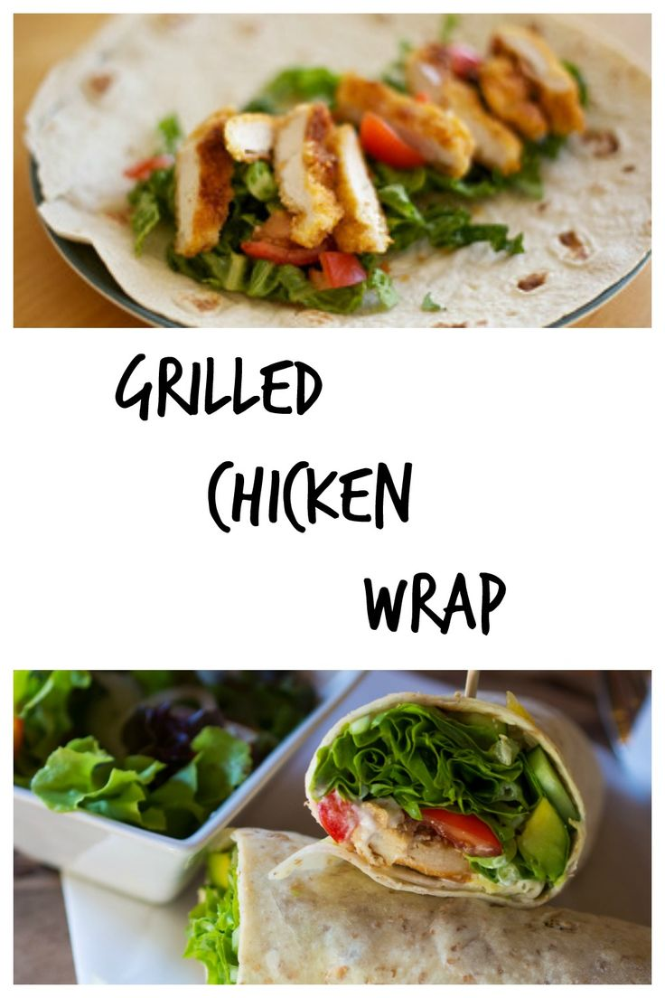 Yum, Grilled Chicken Wraps. Check them out.