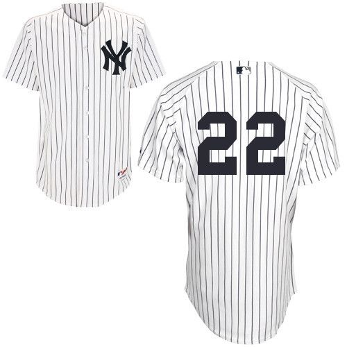 Men's MLB New York Yankees #22 White Jersey