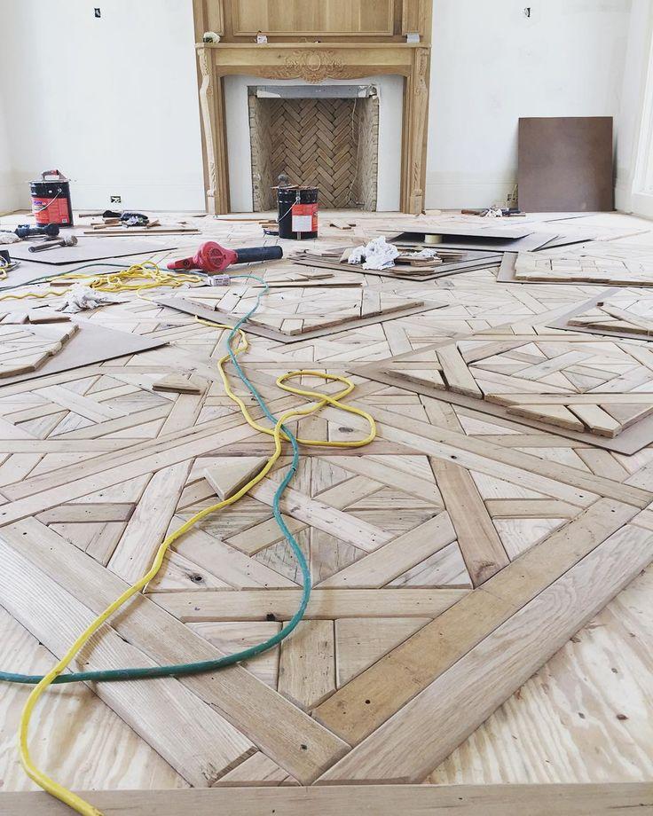 Stunning floors by #thewoodshopoftexas #inprogress #construction #emcg #kenkehoekkco