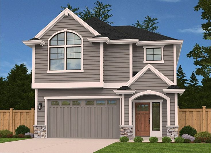 Narrow Lot Northwestern House Plan - 85118MS   2nd Floor Master Suite, CAD Available, Exclusive, Loft, Narrow Lot, PDF   Architectural Designs