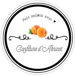 Etiquettes pour confitures d'abricot maison par Lily Ciboulette www.lilyciboulette.com