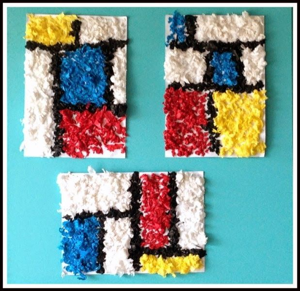 Me paree una gran actividad para trabajar el arte en eduación infantil. Trabajar a Mondrían y así ellos poder fabricar su propio cuadro con disitintos materiales, como por ejemplo arroz, lentejas y luego lo pueden pintar con pintura de dedos.