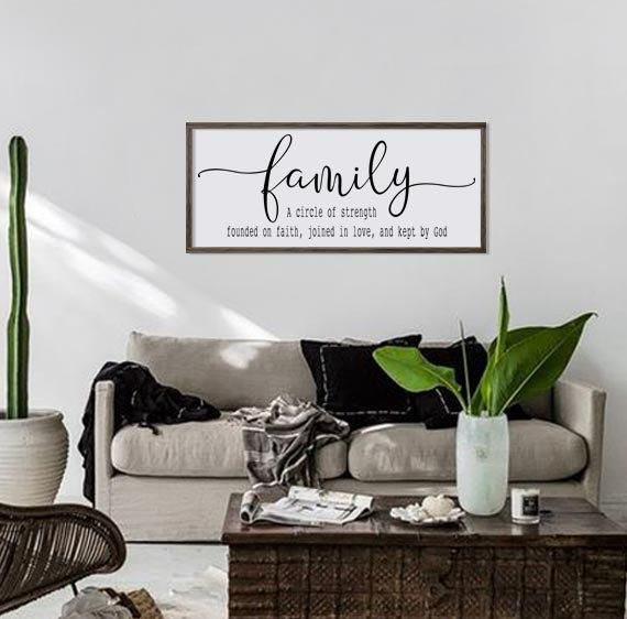 Large Family Room Sign Home Sign Living Room Decor Home Etsy Farmhouse Wall Decor Family Room Decorating Farmhouse Wall Decor Living Room