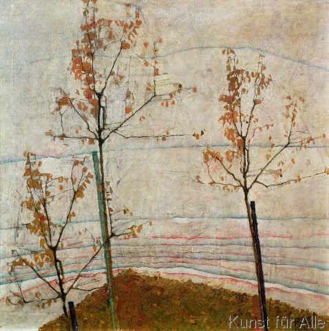 Egon Schiele - Autumn Trees, 1911