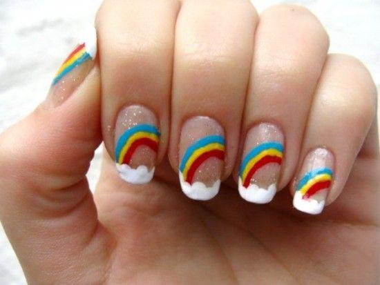 unhas arco iris tendencia unhas