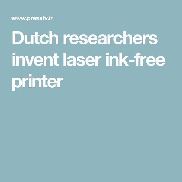 Dutch researchers invent laser ink-free printer