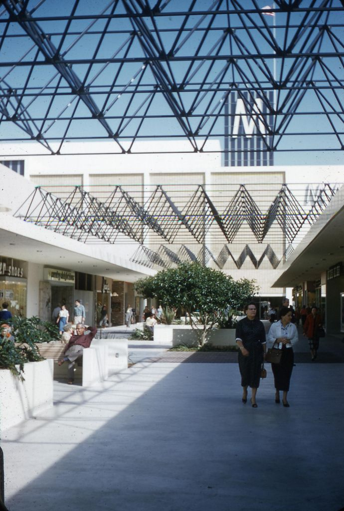 Eastland Center Mall, Upper Level, West Covina, California. March 1958