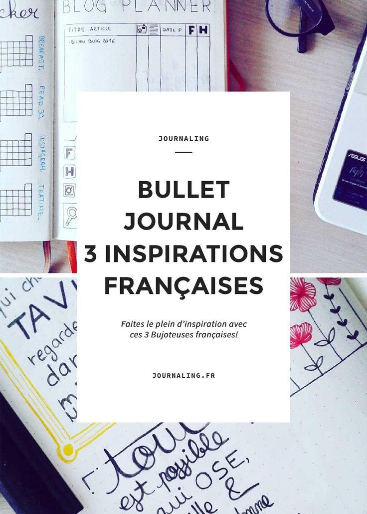 Inspirations de Bullet Journal 100% made in France. Découvrez des BuJo faits par des françaises! Bujo bullet journal français