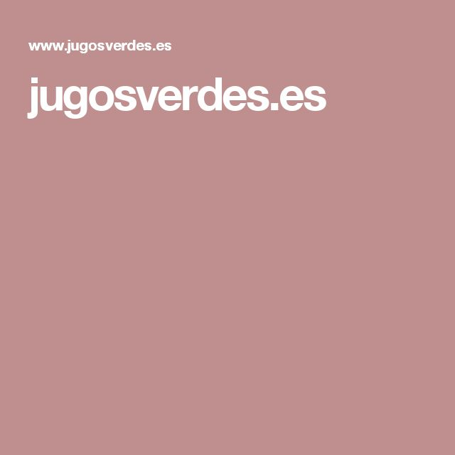 jugosverdes.es