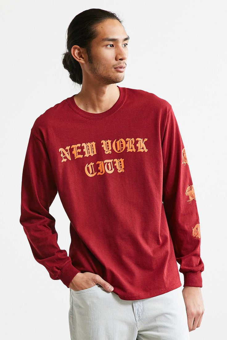 New York City Rats Long Sleeve Tee - Urban Outfitters
