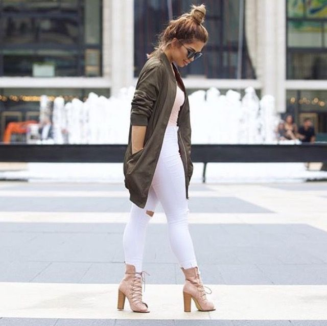 @IluvSarahii in HMS - Outfit available here: Jacket: http://www.hotmiamistyles.com/Olive_Long_Bomber_Jacket_p/gsj464olive.htm Jeans: http://www.hotmiamistyles.com/SearchResults.asp?Search=p831&x=0&y=0