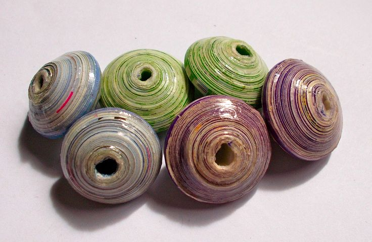 Jumbo Vezo Collection Pack - Recycled Paper Beads - Fair Trade from Mzuribeads Uganda - Size 3cm approx Pack of 6 Beads by NomvulaCrafts on Etsy