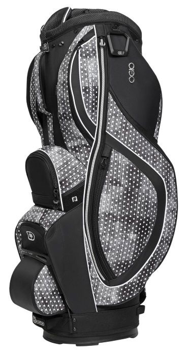 Polka Dot / Black Ogio Women's Majestic Golf Cart Bag available at #lorisgolfshoppe
