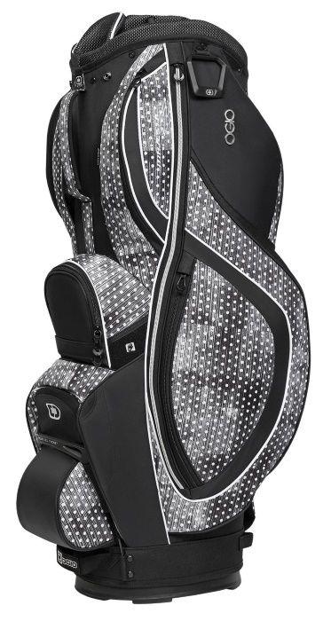 Polka Dot / Black Ogio Women's Majestic Golf Cart Bag available at #lorisgolfshoppe