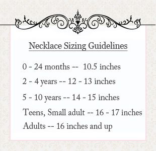 necklace lengths for children - Google Search