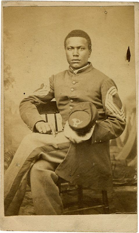 civil war Sergeant Major John Wilson, June 3, 1864, albumen print, West Virginia University Libraries, West Virginia and Regional History Collection